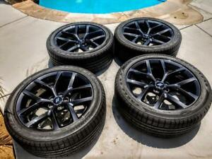 Dodge Charger Challenger Black Top Oem 20 Wheels Tires Factory Alloy Rims
