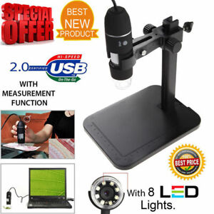 8led 1000x 10mp Usb Digital Microscope Endoscope Magnifier Camera W Lift Stand