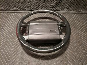 90 93 Ford Fox Body Mustang Steering Wheel Oem Factory Leather Wrapped 5 0l 87