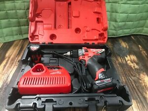 Milwaukee 2504 20 M12 Fuel Brushless 1 2 In Hammer Drill 2 0 Battery