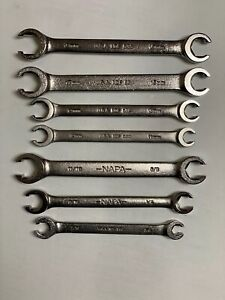 7 Pc Flare Nut Wrench Set Metric Sae Made In Usa