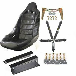 Jegs Performance Products 70250k16 Pro High Back Ii Race Seat Kit Includes Blac