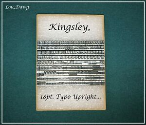 Kingsley Machine Type 18pt Typo Upright Hot Foil Stamping Machine