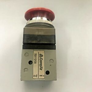 Compair 703111210a 3 2 way Pneumatic Control Valve G1 8 Red Push Button