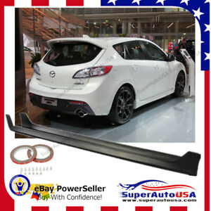 Oe Style Side Skirts Abs Fits 10 13 Mazda 3 4 5dr Body Kit Black Pp Jdm Vip