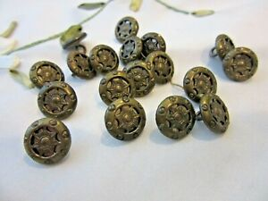 Lot Of 18 Matching Antique Metal Buttons