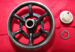 Vintage 1911 Singer Model 27 Sewing Machine Parts Drive Wheel Some Light Rust