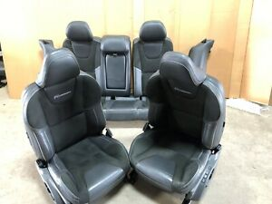 2015 Volvo V60 T6 R Design Front Leather Bucket Seats Black W Rears