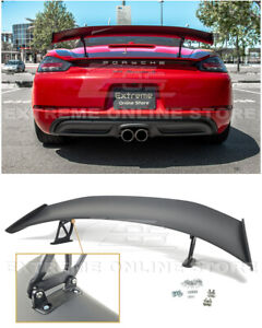 Gt4 Style Rear Trunk Lid Wing Spoiler For 17 up Porsche 718 Cayman Boxster
