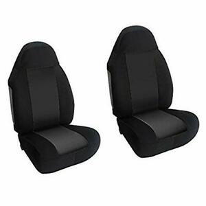 Car Seat Cover 2 Front Truck Suv Black Bucket Universal Leader Accesories Cl2
