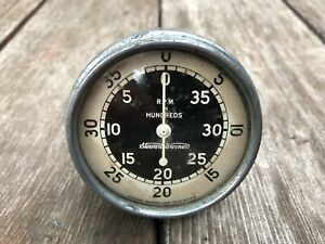Vtg 1940 S Stewart Warner Rpm Tach Gauge Tachometer 1940s Rat Rod Car Part Usa
