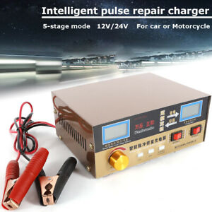 12v24v 6ah 400ah Smart Battery Maintainer Charger For Motorcycle Car Truck Usa