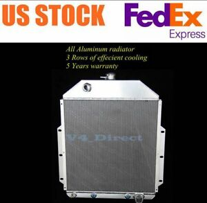 3 Row Aluminum Radiator For 1942 1952 Ford Truck Pickup F1 F2 Chevy Engine 50 51