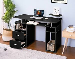 New Computer Desk Laptop Writing Workstation Home Office Furniture With Drawers