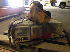Coffing 2 Ton Electric Chain Hoist With Manual Trolley