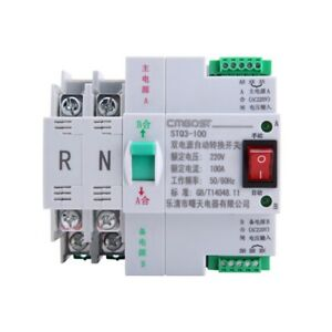 30 Ms Mini Dual Power Automatic Transfer Switch 2p 100a 220v Generator