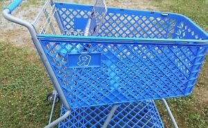 Toy s R Us Shopping Cart Toy Kids Store Carts Shop Fun Blue Vintage Rare