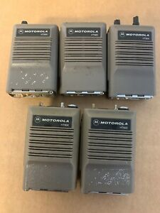Lot Of 5 Motorola Ht600 6 Channel Portable Fm Hand Held Radio