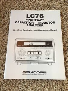 New In Plastic Sencore Lc76 Owners Manual Rare Only 1 In Stock