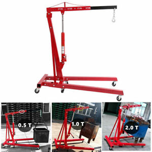 0 5 1 2 Ton Red Color Engine Motor Hoist Cherry Picker Shop Crane Lift Foldable