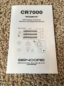New In Plastic Original Sencore Cr7000 Owners Manual Just 1 Available
