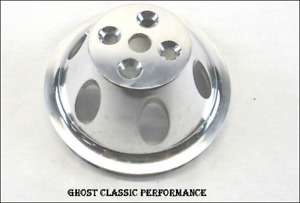Aluminum Bbc Chevy 396 454 Short Water Pump Pulley 1 Groove Satin Sharp