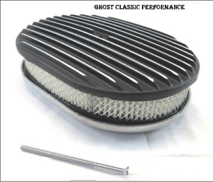 12 Oval Finned Air Cleaner W Element Black Bpe 1101b