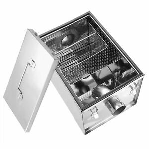 8lb Grease Trap 5 Gpm Gallons Per Minute Stainless Steel Commercial Interceptor