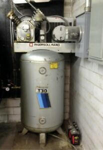 Ingersoll Rand T30 2 Stage Air Compressor Model 242 5n 80 Gallon Tank
