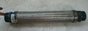Hose Flexible Metal Hose 18 l X 2 Dia 321 Stainless Steel Nos Free Shipping
