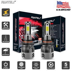 Fanteli 9005 9145 9140 H10 3000k Yellow Led Fog Light Kit Bulbs High Power 2050w