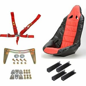 Jegs Performance Products 70250k3 Pro High Back Ii Race Seat Kit Includes Black