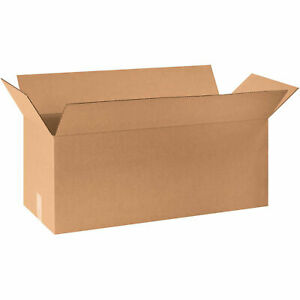 30 X 10 X 10 Long Cardboard Corrugated Boxes 65 Lbs Capacity Ect 32 Lot Of