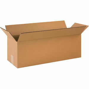24 X 8 X 8 Long Cardboard Corrugated Boxes 65 Lbs Capacity 200 ect 32 Lot