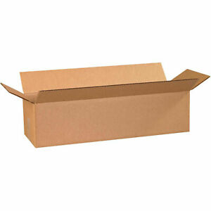 24 X 8 X 6 Long Cardboard Corrugated Boxes 65 Lbs Capacity 200 ect 32 Lot