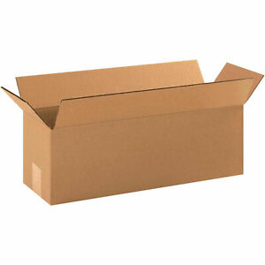 18 X 6 X 6 Long Cardboard Corrugated Boxes 65 Lbs Capacity 200 ect 32 Lot
