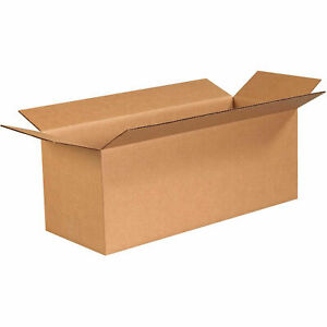 24 X 9 X 9 Long Cardboard Corrugated Boxes 65 Lbs Capacity Ect 32 Lot Of