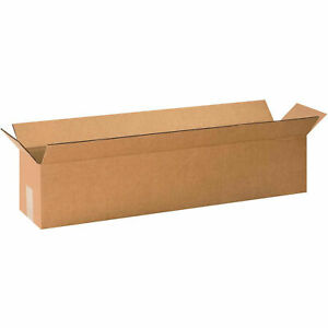 30 X 6 X 6 Long Cardboard Corrugated Boxes 65 Lbs Capacity 200 ect 32 Lot