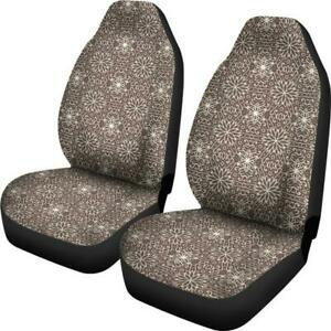 Car Seat Covers Vintage Floral Retro Old Fashioned Style Flower Car Custom Print