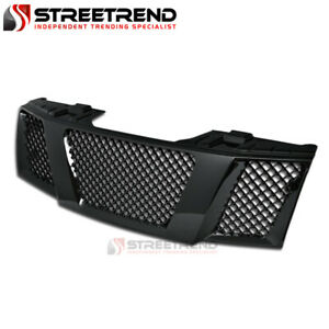 For 04 07 Nissan Titan armada Blk Mesh Front Hood Bumper Grill Grille Guard Abs
