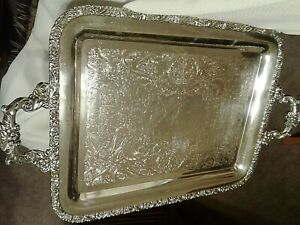 Wilcox I S International Silver Co New Beverly Manor 1381 Butler Serving Tray