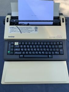 Vintage Brother Ax 10 Electric Typewriter Tested Works Great Ink And Correctkon