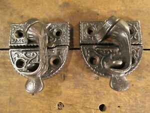 One Pair Antique Cast Iron Window Sash Locks