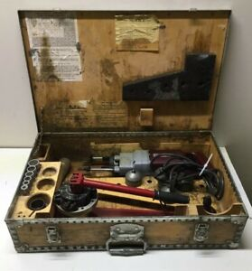 T drill Tee T 30 Copper Pipe Drill With Lots Of Extras Original Box