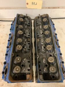 1970 s Chevy Small Block 333882 Cylinder Heads Pair 619
