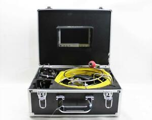 Anysun Drain Pipe Sewer Inspection Camera W Lcd Monitor Case 30m