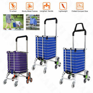 Stair Climb Rolling Folding Shopping Cart Trolley Grocery Climber Laundry Travel