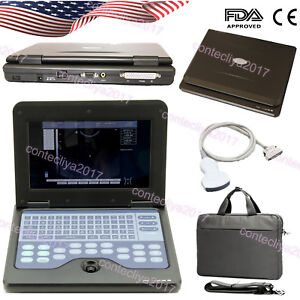 10 1 Lcd Portable Laptop Ultrasound Scanner Diagnostic Machine convex Probe usa
