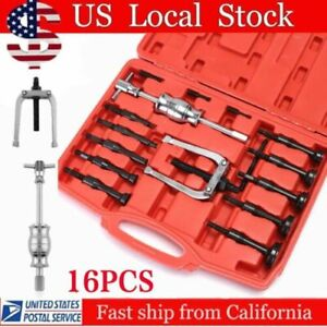16pc Bearing Puller Splitter Blind Hole Pilot Extractor Remover Slide Hammer Kit