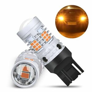 Auxito 7443 7444 T20 Anti Hyper Flash Led Turn Signal Light Bulbs Amber Yellow